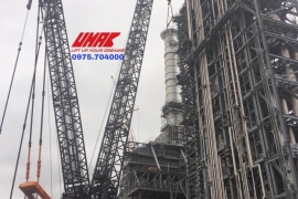 Crawler cranes for hire 1200 tons, installation and commissioning - UMAC VN