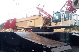 Cẩu bánh xích 600 tấn Liebherr LR1600/2 đời 2013